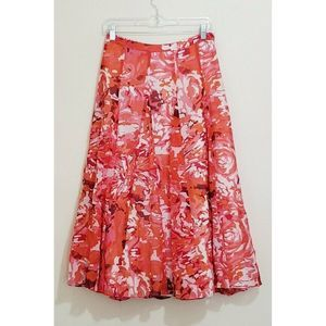 Coldwater Creek Floral Maxi Flowy A-Line Skirt